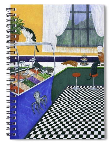 The Cat Cafe Spiral Notebook by Karen Zuk Rosenblatt