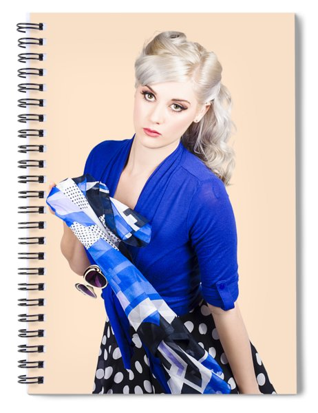 The Classic Pin-up Image. Girl In Retro Style Spiral Notebook