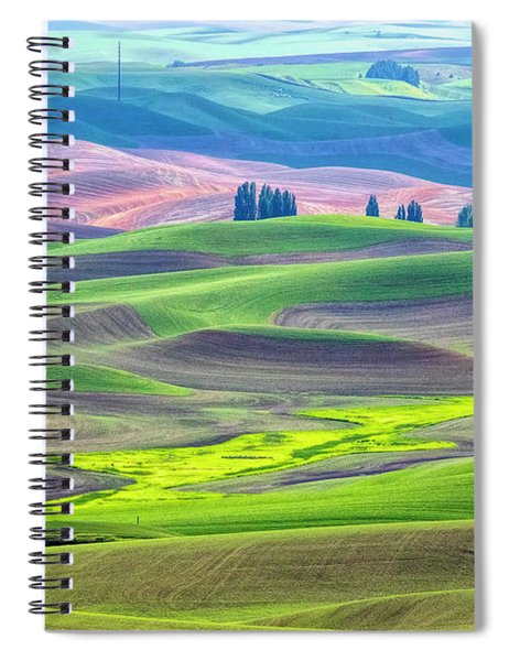 The Color Palette Of The Palouse Spiral Notebook