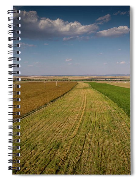 The Colored Fields Spiral Notebook