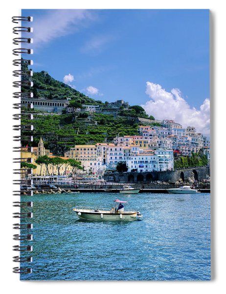 The Colorful Amalfi Coast  Spiral Notebook by Robert Bellomy