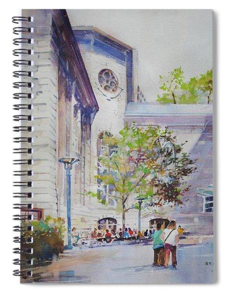 The Courtyard At Mass General Hospital Spiral Notebook