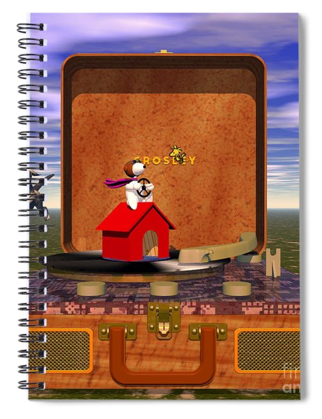 The Crosley Traveler, Featuring Snoopy And Schroeder Spiral Notebook
