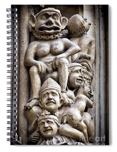The Damned In Notre Dame De Paris Spiral Notebook