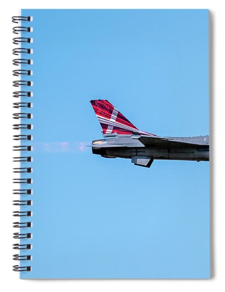 The Danish F-16 Fighting Falcon In High Speed Action In Profile  Spiral Notebook