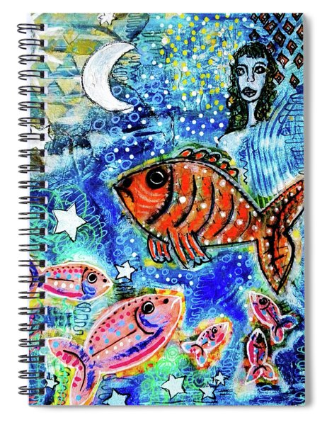 The Day The Stars Fell Into The Ocean Spiral Notebook