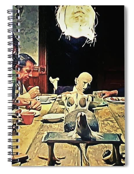 The Dinner Scene - Texas Chainsaw Spiral Notebook
