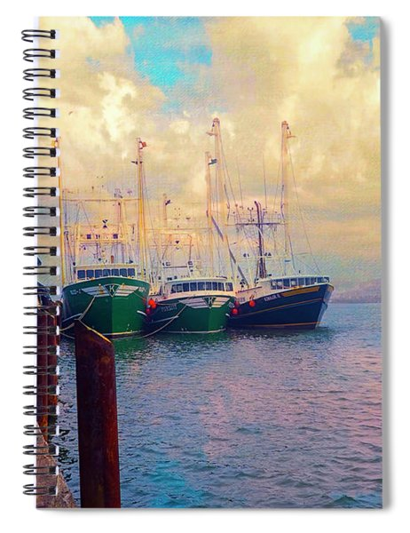 The Docks At Cape May Spiral Notebook