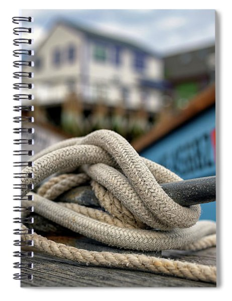 The Docks At Port Clyde Spiral Notebook
