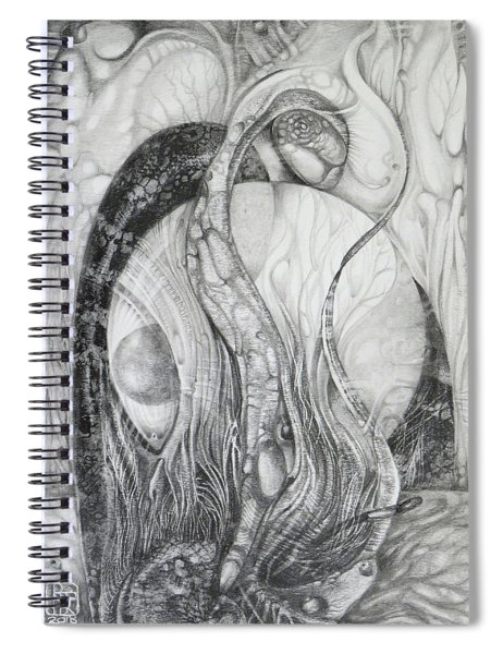 The Erratic Gathering Of Undisciplined Biomorphic Objects  Spiral Notebook