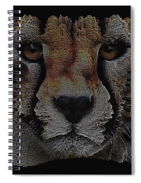 The Face Of A Cheetah Spiral Notebook