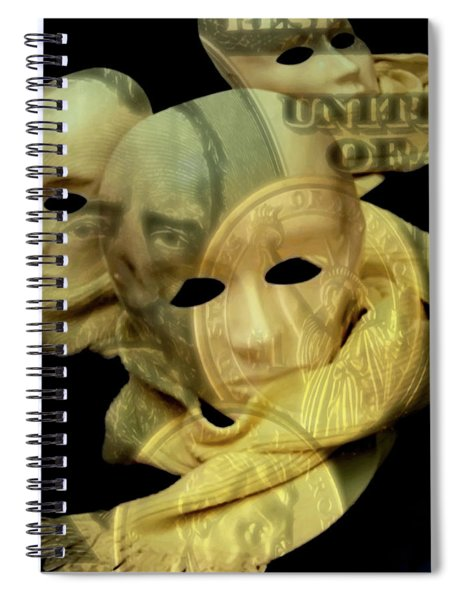 The Face Of Greed Spiral Notebook
