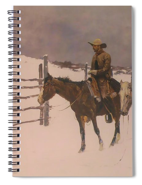 The Fall Of The Cowboy Spiral Notebook