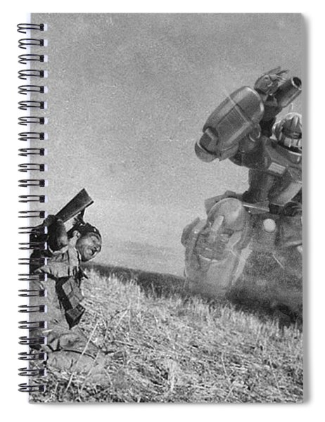 The Falling Soldier Two Spiral Notebook
