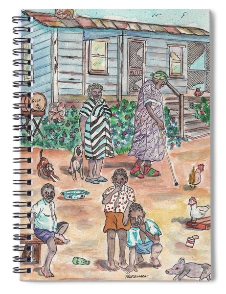 The Family On Magnolia Road Spiral Notebook