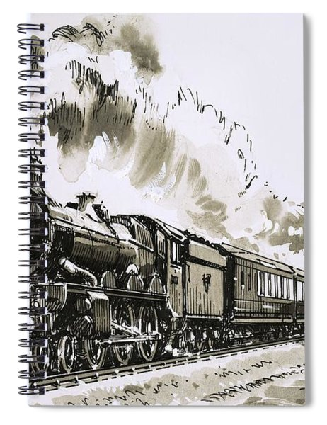 The Famous 4-6-0 Castle Class Of Steam Locomotives Used By Great Western Spiral Notebook