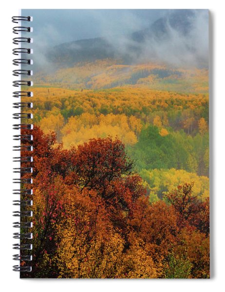 Spiral Notebook featuring the photograph The Feeling Of Fall by John De Bord