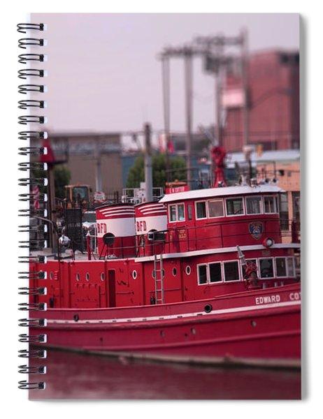 The Fireboat Edward M. Cotter. Spiral Notebook
