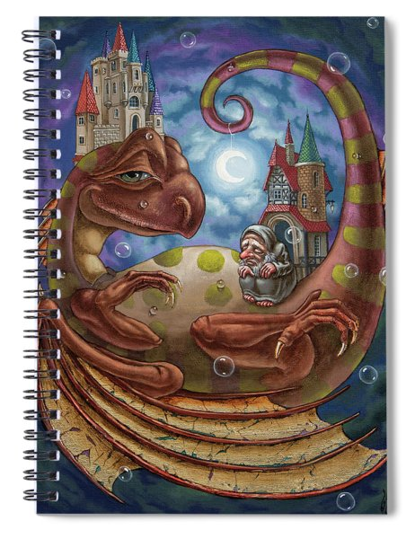 The First Dream Of A Celestial Dragon Spiral Notebook