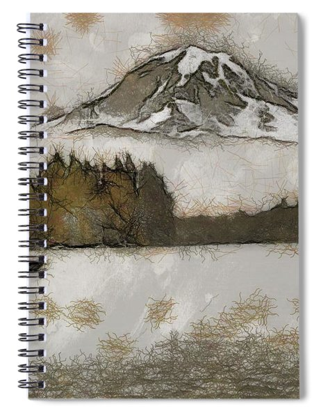 The Floating Mountain Spiral Notebook by Mario Carini