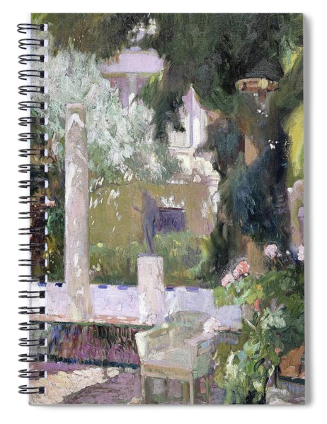 The Gardens At The Sorolla Family House - Digital Remastered Edition Spiral Notebook