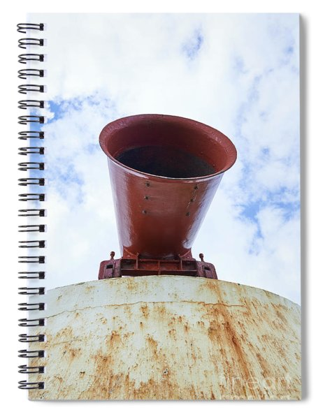 The Girdle Ness Foghorn Trumpet On The North East Coast Of Scotland. Spiral Notebook