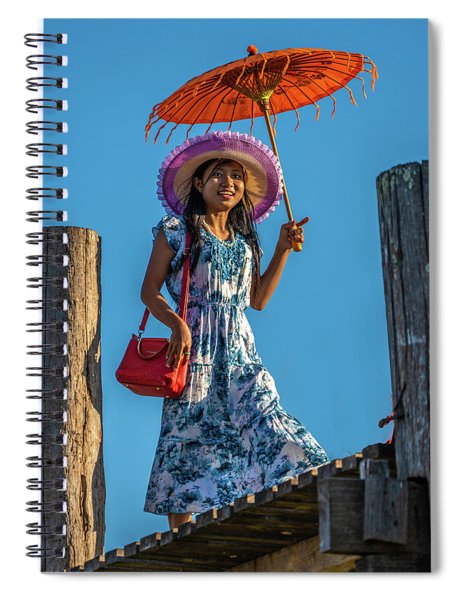 The Girl On The Bridge Spiral Notebook