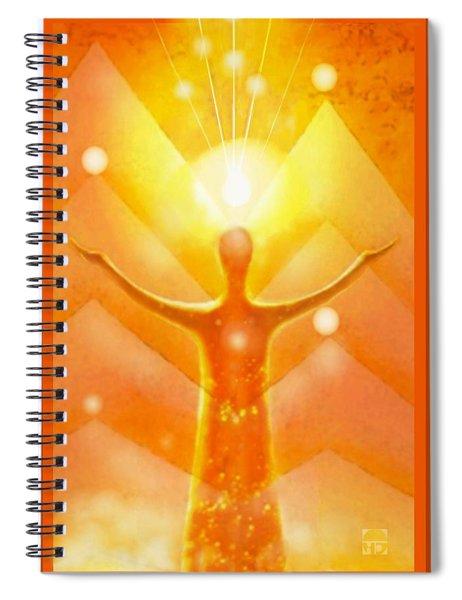The  Golden  Angel Spiral Notebook