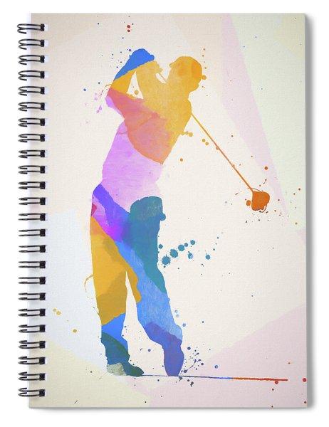 The Golfer Spiral Notebook