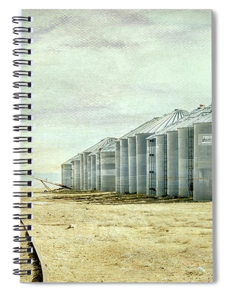 The Grain Bins At Taber Spiral Notebook