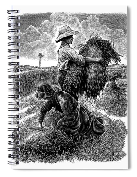 The Harvesters - Bw Spiral Notebook