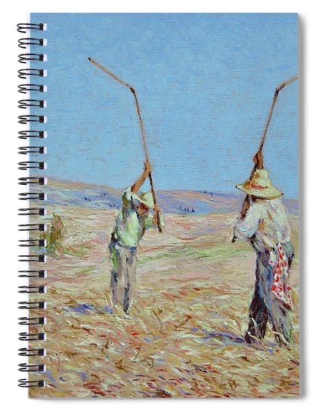The Haymakers - Pierre Van Dijk 70x90cm Oil Spiral Notebook