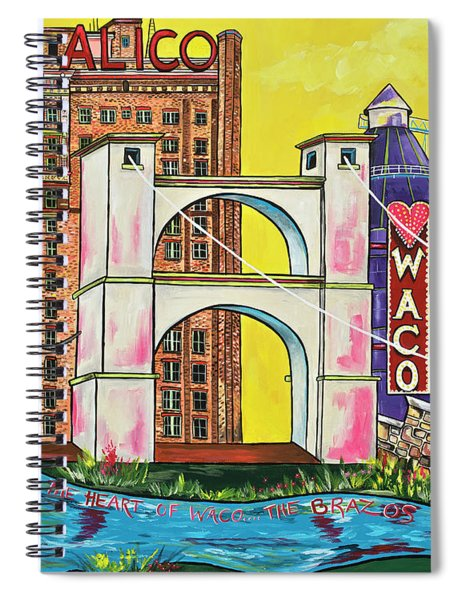 The Heart Of Waco Spiral Notebook