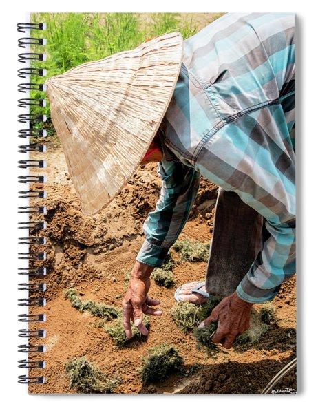 The Hoi An Organic Farmer, Vietnam  Spiral Notebook
