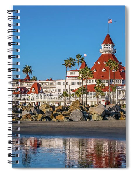 Spiral Notebook featuring the photograph The Hotel Del Coronado San Diego by Robert Bellomy
