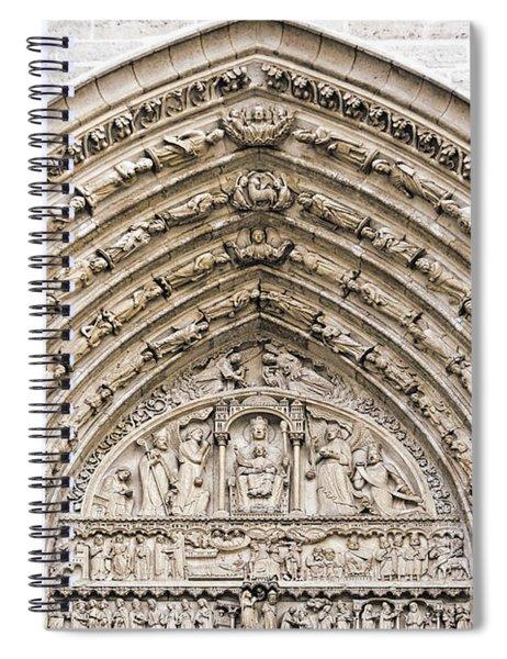 The Judgement Portal Of Notre Dame De Paris Spiral Notebook