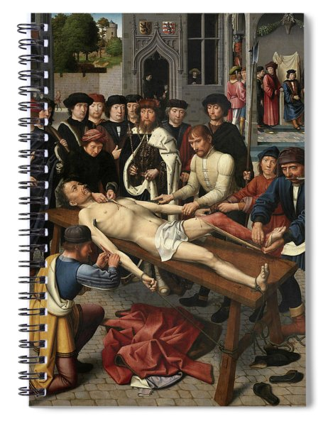 The Judgment Of Cambyses, Flaying Of Sisamnes Spiral Notebook