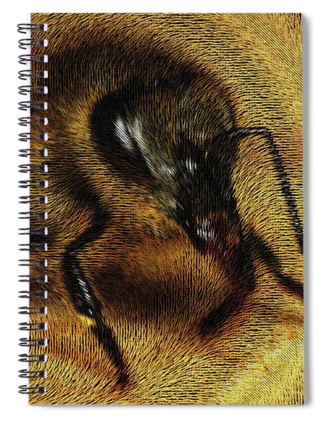 Spiral Notebook featuring the digital art The Killer Bee by ISAW Company