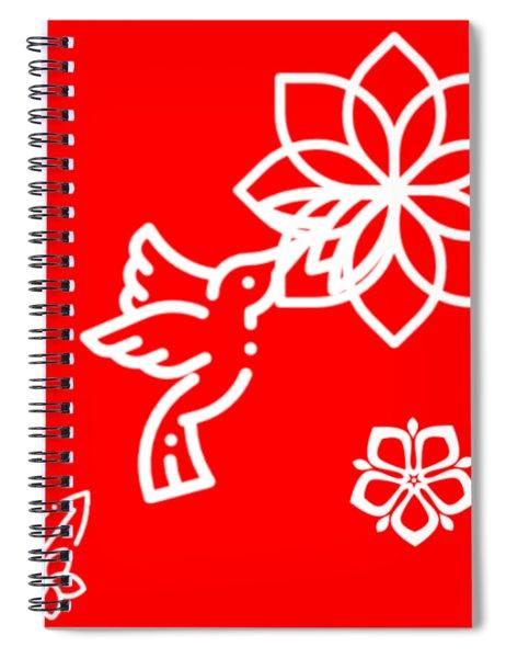 The Kissing Flower On Flower Spiral Notebook