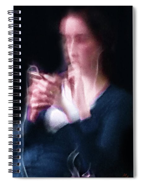 The Lady With Smart Phone Spiral Notebook