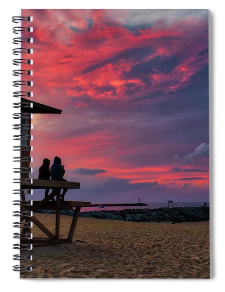 The Last Sunrise Of 2018 At The Wedge Spiral Notebook