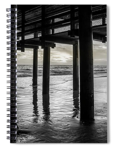 The Light Downunder - B And W Spiral Notebook