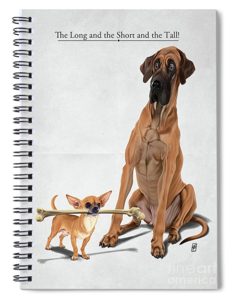 The Long And The Short And The Tall Spiral Notebook