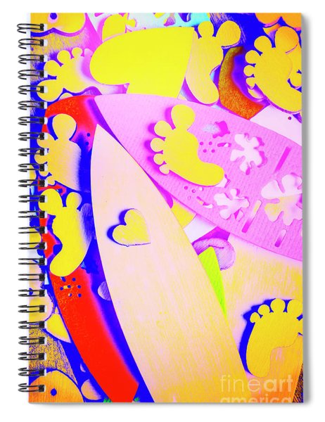 The Love Wave Spiral Notebook
