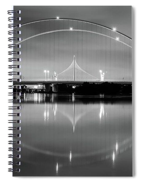 Spiral Notebook featuring the photograph The Margaret Mcdermott Bridge by Robert Bellomy