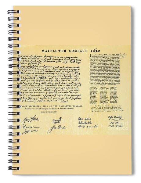 The Mayflower Compact  Spiral Notebook