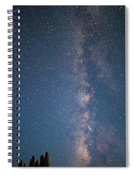 The Milky Way In Arizona Spiral Notebook
