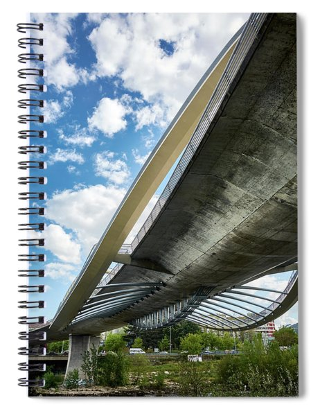 The Millennium Bridge From Below Spiral Notebook