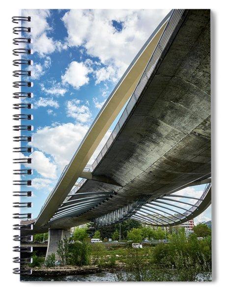 The Millennium Bridge From Below Spiral Notebook