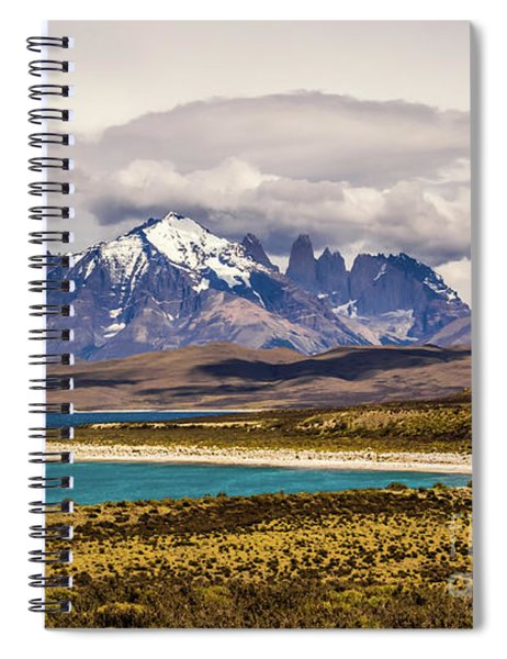 The Mountains Of Torres Del Paine National Park, Chile Spiral Notebook